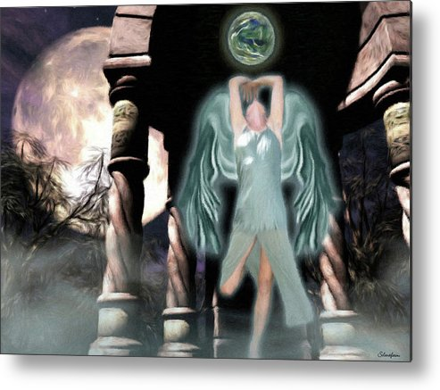 Fey Metal Print featuring the digital art Fairy Temple by Maggie Smith