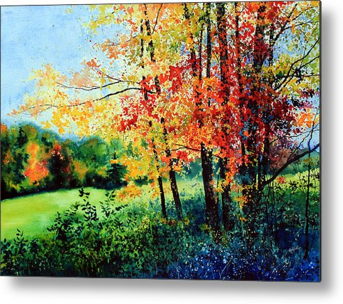 Fall Landscape Art Metal Print featuring the painting Fall Color by Hanne Lore Koehler