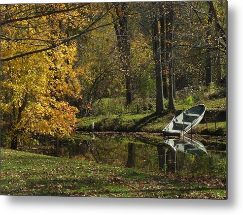 Rowboat Metal Print featuring the photograph Fall Rowboat by Michael L Kimble