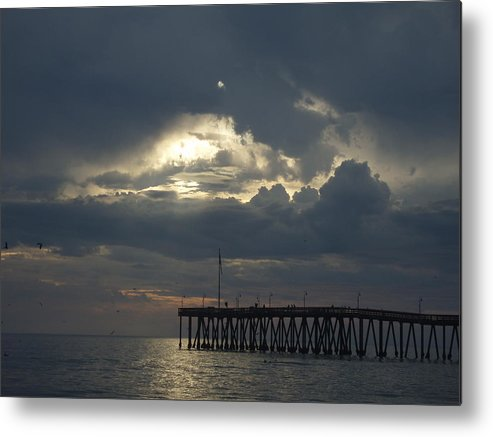 Metal Print featuring the photograph Fall Sunset by Liz Vernand