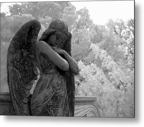Infrared Photography Metal Print featuring the photograph Fallen Angel by Jane Linders