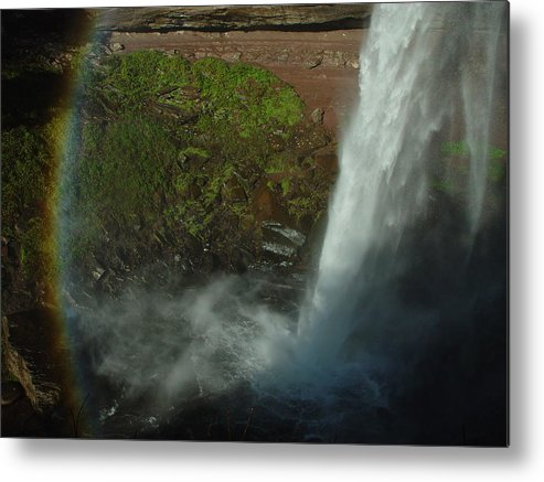 Nature Metal Print featuring the photograph Falls 1 by Eric Workman