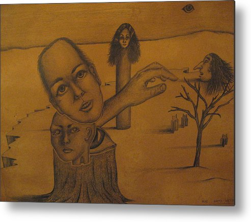 Family Metal Print featuring the drawing Family Tree by Larry Whitler