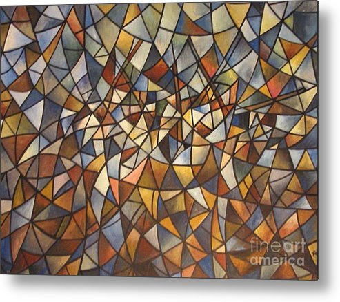 Abstract Metal Print featuring the painting Fantasia by Efren Teves