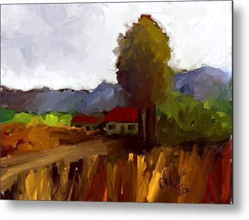 Farm House Metal Print featuring the painting Farm House by Bruce Young