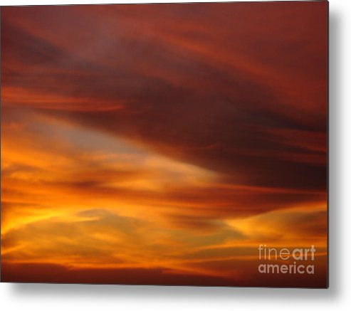 Sunset Metal Print featuring the photograph Fire In The Sky 2 by Chad Natti
