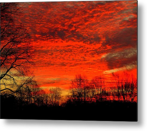Akeview Metal Print featuring the photograph Fire In The Sky by Aron Chervin