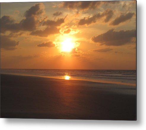Landscape Metal Print featuring the photograph Fire In The Sky by Greg Durham