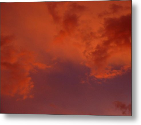 Clouds Metal Print featuring the photograph Fire In The Sky by Jennifer Ott
