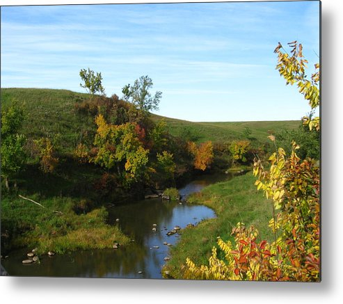 Landscape Metal Print featuring the photograph Firesteel Creek Autumn by Cindy Gregg