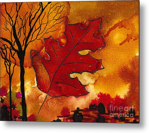 Fire Metal Print featuring the painting Firestorm by Susan Kubes