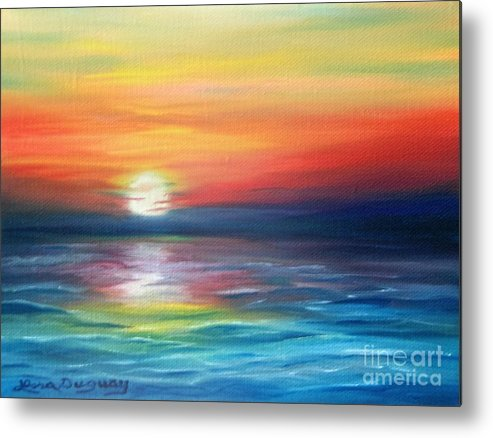 Sunrise Metal Print featuring the painting First Light by Lora Duguay
