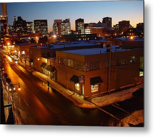 Night Metal Print featuring the photograph First Street by Eric Workman