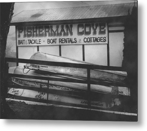 Fine Art Metal Print featuring the photograph Fisherman Cove by Michael L Kimble