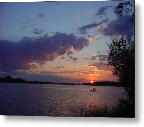 St.lawrence River Metal Print featuring the photograph Fishing On The St.lawrence River. by Jerrold Carton
