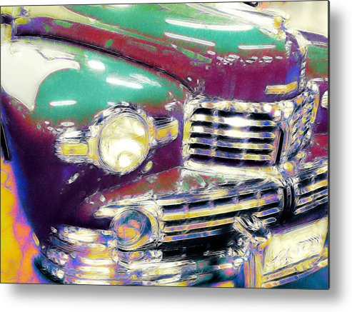Abstract Car Metal Print featuring the digital art Flash by Devalyn Marshall