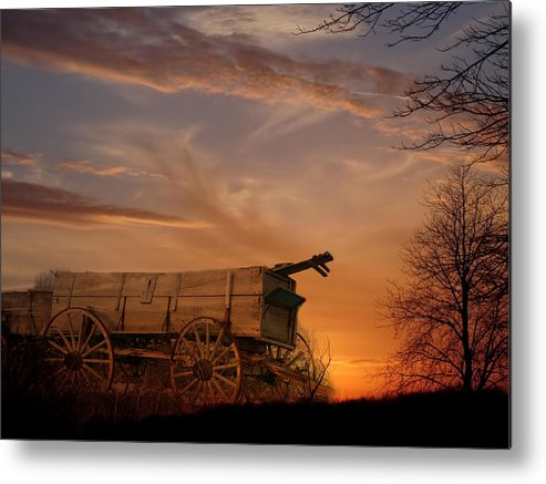 Wagon Metal Print featuring the photograph Flashback by Theresa Campbell