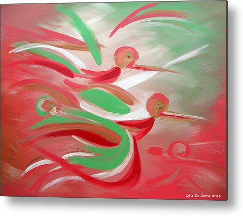 Flight Metal Print featuring the painting Flight by Gina De Gorna