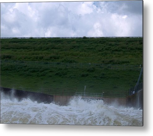 Red River Metal Print featuring the photograph Flood Gates Open by Robyn Stacey