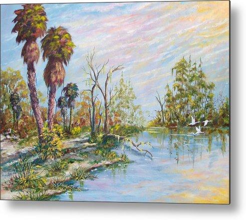 Landscape Metal Print featuring the painting Florida Forgotten by Dennis Vebert