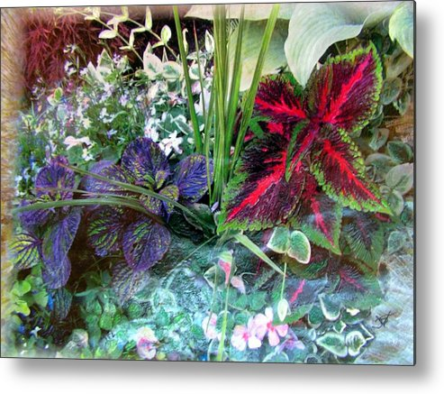 Flower Box Metal Print featuring the mixed media Flower Box by John Vandebrooke