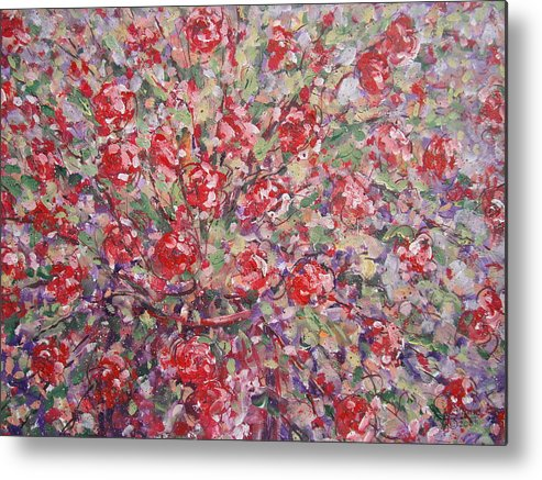 Painting Metal Print featuring the painting Flower Feelings. by Leonard Holland
