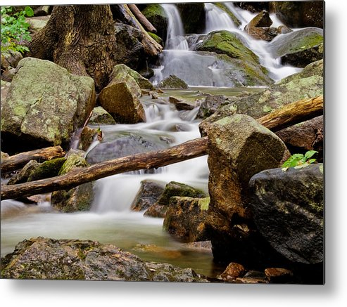 Stream Metal Print featuring the photograph Flowing Stream by Jim DeLillo