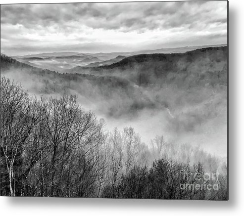 Bluestone Gorge Metal Print featuring the photograph Fog In The Mountains - Pipestem State Park by Kerri Farley