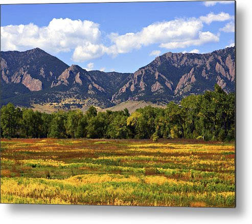 Fall Metal Print featuring the photograph Foothills Of Colorado by Marilyn Hunt