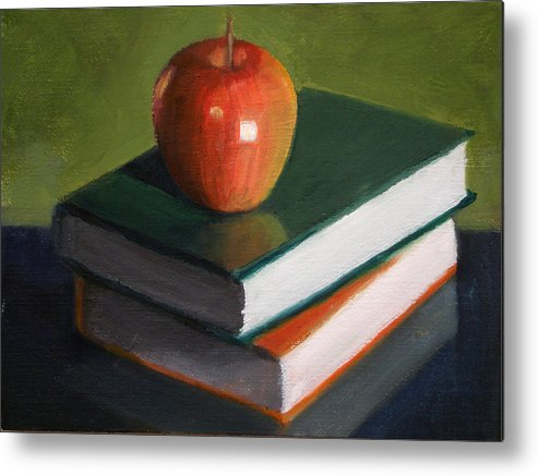 Still Life Metal Print featuring the painting For The Teacher by Becky Alden