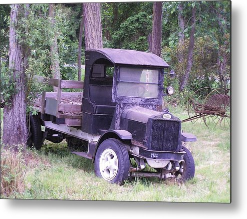 Ford Truck Metal Print featuring the photograph Ford Flatbed by Gene Ritchhart