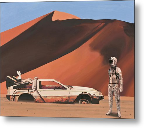 Astronaut Metal Print featuring the painting Forgotten Time Machine by Scott Listfield