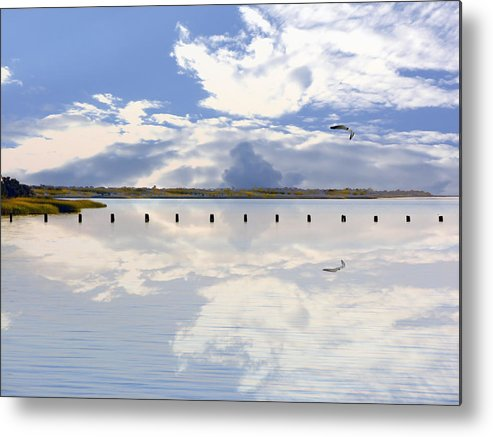 Cape Fear River Metal Print featuring the photograph Fort Fisher Reflection by Paul Boroznoff