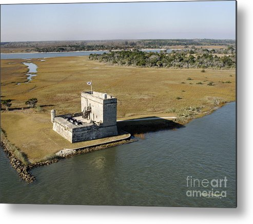 Fort Metal Print featuring the painting Fort Matanzas  by Addison Fitzgerald