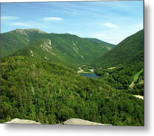 Nature Metal Print featuring the photograph Franconia Notch by Eric Workman