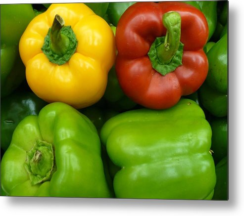 Vegetable Metal Print featuring the photograph Fresh Peppers II by Florene Welebny