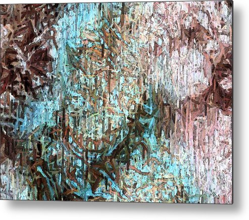 Abstract Metal Print featuring the photograph From The Heart by Florene Welebny