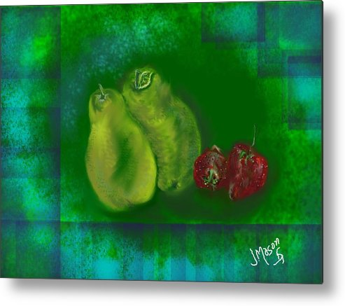 Fruit Metal Print featuring the digital art Fruit by Jessica Mason