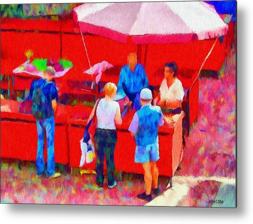 Fruit Metal Print featuring the painting Fruit Of The Vendor by Jeff Kolker
