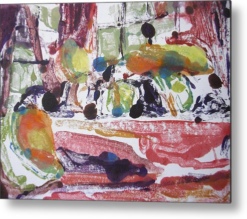 Fruit Metal Print featuring the mixed media Fruti Bowl by Aleksandra Buha