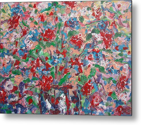 Painting Metal Print featuring the painting Full Bloom. by Leonard Holland