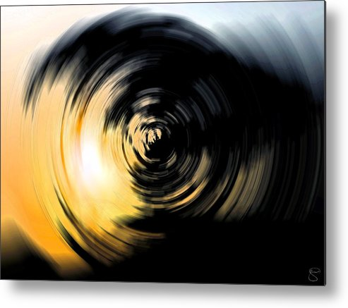 Abstract Metal Print featuring the digital art Futility II by Stacey May