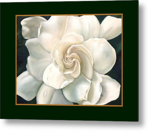 Gardeniaflower Metal Print featuring the painting Gardenia by Darlene Green