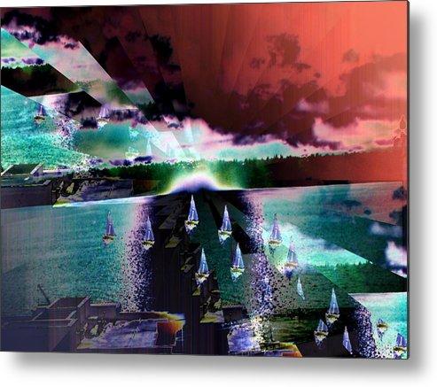 Seattle Metal Print featuring the digital art Ghost Regatta by Tim Allen