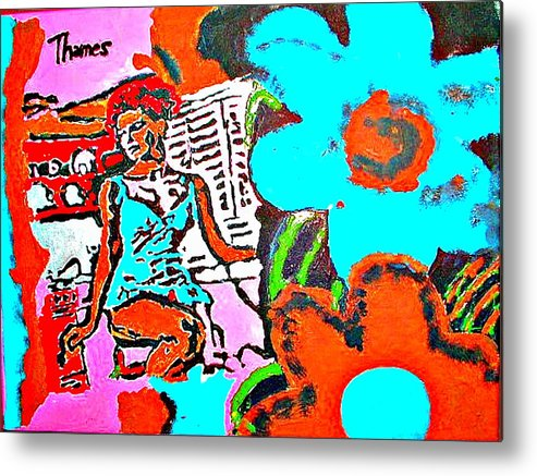 Acrylic Metal Print featuring the painting Girl In The Kitchen by Christopher Thames