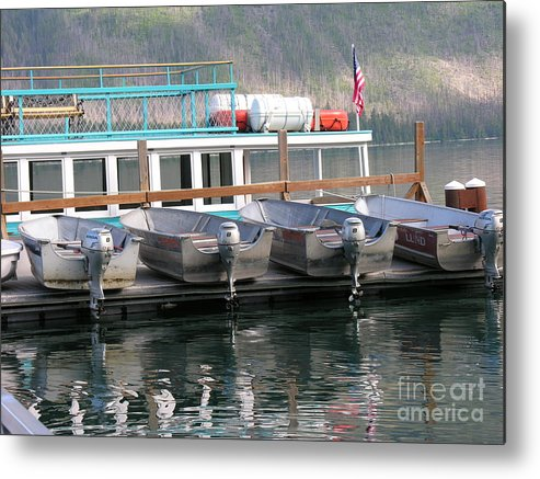 Boats Metal Print featuring the photograph Glacier Boating by Diane Greco-Lesser
