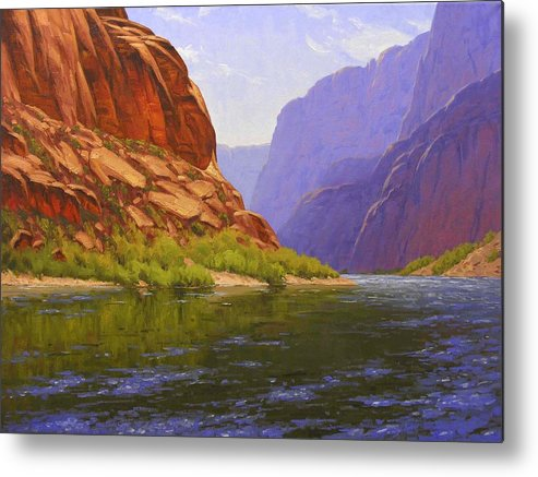 Cody Delong Metal Print featuring the painting Glen Canyon Morning by Cody DeLong