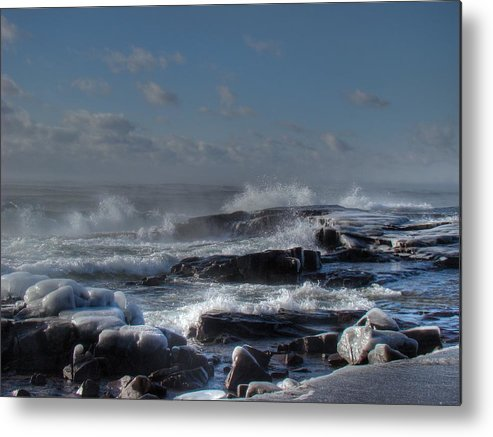 Lake Superior Metal Print featuring the photograph Glistening Sparkle by Tingy Wende
