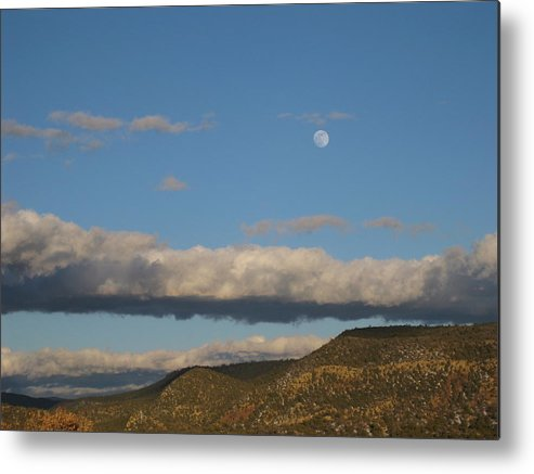 Landscape Metal Print featuring the photograph Glorietta Moon by Thor Sigstedt