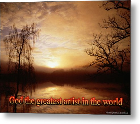 God Metal Print featuring the digital art God Is The Artist by Philip McDonald